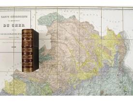 BOULANGER / BERTERA. -  Carte géologique du département du Cher.