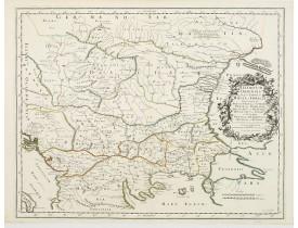 SANSON, N. / MARRIET, P. -  Illyricum Orientis In quo Partes II. Moesia et Thracia. Provinciae XI.