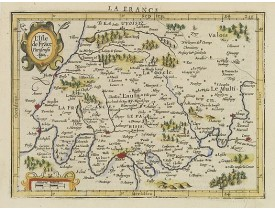 MERCATOR, G. / HONDIUS, J. -  L'Isle de Frace. Parisiensis Ager.