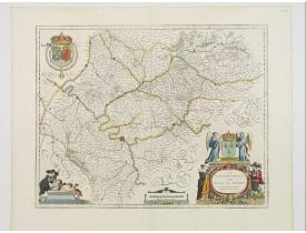BLAEU, W. -  Le Gouvernement de L'Isle de France. Par Damien de Templeux Escuyer Sr. du Frestoy.