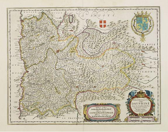 BLAEU, W. -  Delphinatus vulgo Dauphiné.
