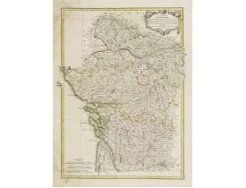 LATTRÉ, J. / BONNE, R. -  Carte des Gouvernements d' Anjou et du Saumurois.. Saintonge-Angoumois..