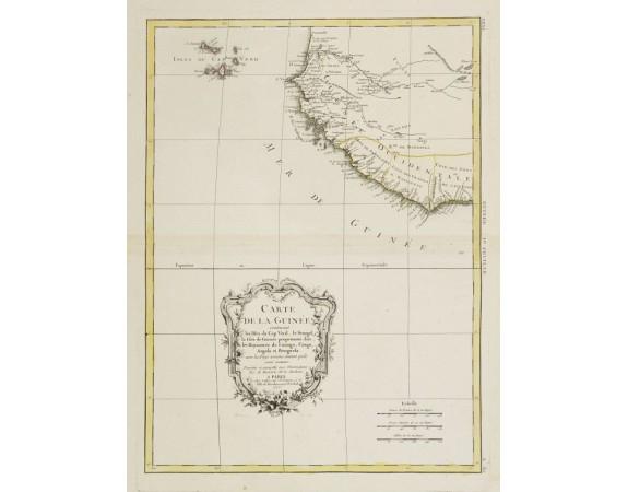 LATTRÉ, J. / BONNE, R. -  Carte de la Guinée contenant les Isles du Cap Verd, le Senegal..