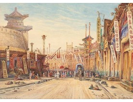 DIETH, H. -  Strasse in Peking.
