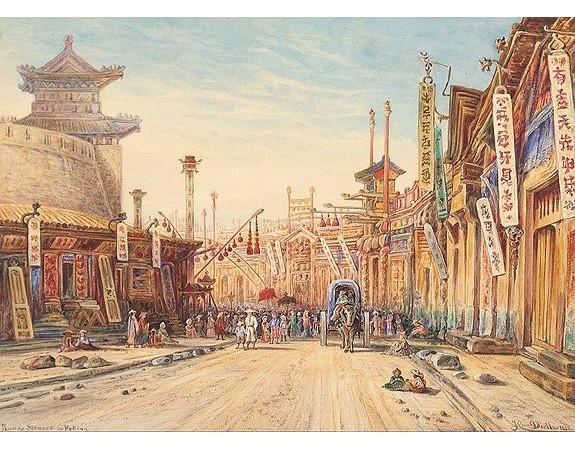 DIETH, H. -  Strasse in Peking.