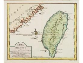 BELLIN, J.N. -  L'Isle Formose et Partie des Costes de la Chine.