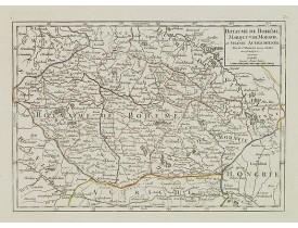 ROBERT DE VAUGONDY, G. -  Royaume de Bohéme, Marquisat de Moravie, et Silésie Autrichenne.