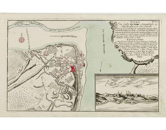 RASPISCHEN HANDLUNG. -  Plan der Stadt Quebec Haupstadt in Neu Franckreich oder Canada..
