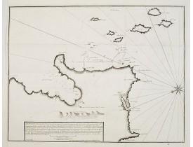 AYROUARD, J. -  Carte d'une partie de la côte de l' îsle de Corse contenant de puis le Cap de fen. . .