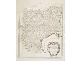SANTINI, P. / REMONDINI, M. -  Carte des Gouvernements de Languedoc, de Foix et de Roussillon..