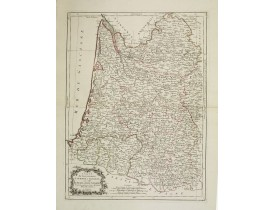 SANTINI, P. / REMONDINI, M. -  Carte des Gouvernements de Guienne et Gascogne, avec celui de Béarn et Basse Navarre. . .