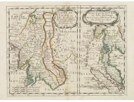 SANSON, N. -  Partie de l'Inde au dela du Gange. . . [and] Presqu'Isle de l'Inde. . .