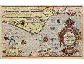 WAGHENAER, L. J. -  Beschrijvinge vande de zee Cuften va Vlanderen en Picardien. . .