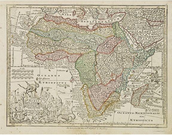 SEUTTER, M. -  Africa juxta navigationes et observat recentissimas. . .