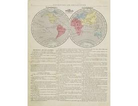 MORSE, S. E. -  The World Western & Eastern hemisphere.
