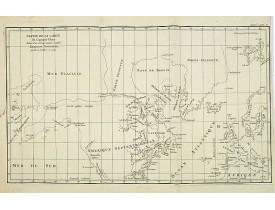 DE VAUGONDY, R. de -  Partie de la Carte du Capitaine Cluny Auteur d'un ouvrage anglois intitulé American Traveller publié à Londres en 1769.