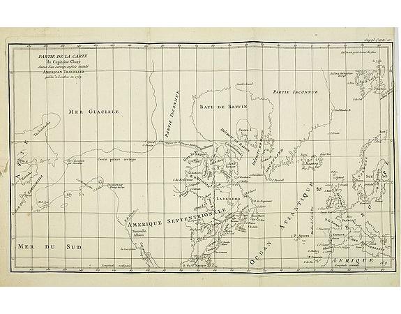 DE VAUGONDY, R. de -  Partie de la Carte du Capitaine Cluny Auteur dun ouvrage anglois intitulé American Traveller publié à Londres en 1769.