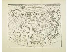 DIDEROT, D. -  Carte des parties Nord et est de l'Asie.. (5 maps).