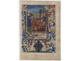 BOOK OF HOURS -  Miniature of Suffrages to the Saints.