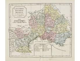 VAUGONDY, R. de / DELAMARCHE, C. F. -  Languedoc, Dauphiné, Provence.