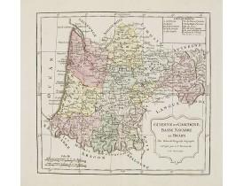VAUGONDY, R. de / DELAMARCHE, C. F. -  Guienne et Gascogne, Basse Navarre et Bearn.