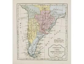 VAUGONDY, R. de / DELAMARCHE, C. F. -  Paraguay, Chili, Terre Magellan.