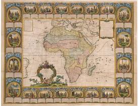 CLOUET / MONDHARE -  Carte d'Afrique