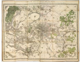 DÉPÔT DE LA GUERRE. -  Carte du Département de la Seine exécutée en 1839 au Dépôt général de la Guerre sous la direction  . . .