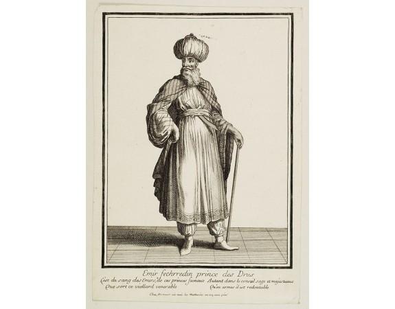 BONNART, H. -  Emir Fechrredin prince des Drus.