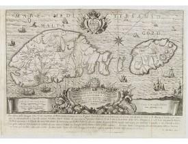 BOVA, A. -  Pianta Geografia delle Isole di Malta, e Gozo della Sagra Religione Gerosolimitana di S. Giovanni delineata, ed incisa in quest anno 1761.