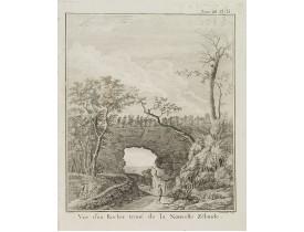 COOK, Captain J. -  Vue d'un Rocher troué de la Nouvelle Zélande.  [Tome III Pl. 8.]