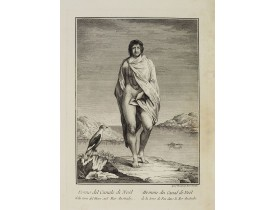 VIERO, Th. -  Uomo del Canale di Noël della terra del Fuoco, nel Mar Australe.  / Homme du Canal de Noël de la terre de Feu dans la Mer Australe.