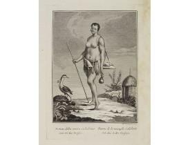 VIERO, Th. -  Donna della nuova Caledonia Isola del Mar Pacifico.  / Femme  de la nouvelle Calédonie Isle dans la Mer Pacifique.
