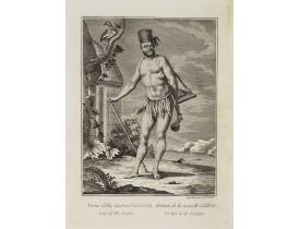 VIERO, Th. -  Uomo della nuova Caledonia Isola del Mar Pacifico.  / Homme  de la nouvelle Calédonie Isle dans la Mer Pacifique.