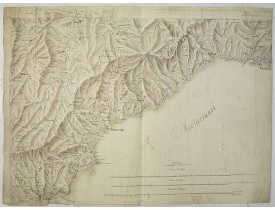 ANONYME. -  [Manuscript map of the Ligurian coast fom Pietra to Genova].