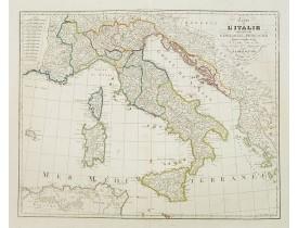 DELISLE, G./ BUACHE, Ph. ./ DEZAUCHE, J. -  Carte de l'Italie Dréssée par G. Delisle et Ph. Buache. . .Revue et corrigée et augmentée par J. A. Dezauche. . .