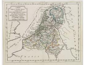 DE LAPORTE, L'Abbé. -  Carte des Pays Bas  . . .