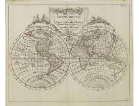 DE LAPORTE, L'Abbé. -  Mappe-Monde ou Description du Glôbe Terrestre . . .
