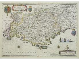 BLAEU, W. -  Provincia. Auctore Petro Johanne Bompario. Provence.