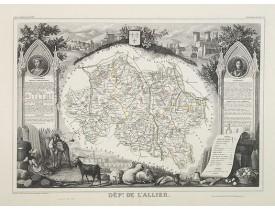LEVASSEUR, V. -  Dépt. De L'Allier. N°3.  [ Moulins ].