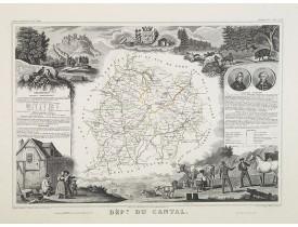 LEVASSEUR, V. -  Dépt. Du Cantal. N°14. [ Aurillac, Murai ].