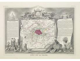 LEVASSEUR, V. - Dépt. De La Seine. N°72. [ Paris - Versailles ].