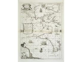 CORONELLI, V. M. -  Citta, porto, e rada di Brest, e . . . Nella Bretagna . . .