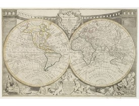 CLOUET, J. B. L. (abbé). -  Mappemonde ou globe terestre.