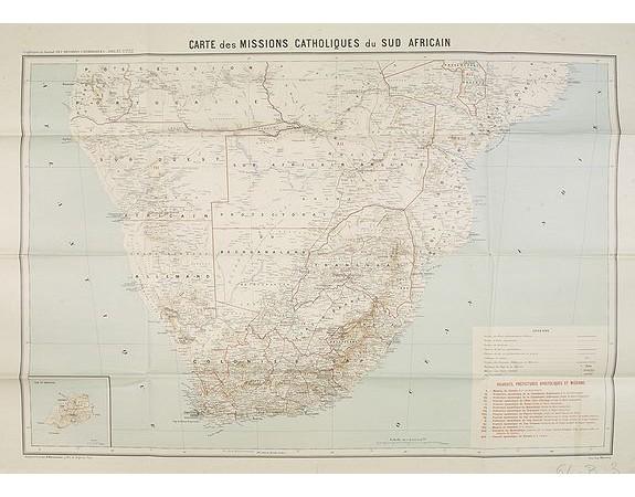 Les Missions Catholiques -  Carte des Missions Catholiques du Sud Africain.
