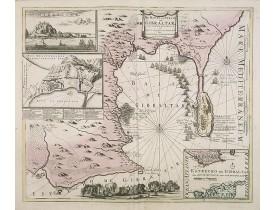 COVENS, J.  / MORTIER, C. -  De Haven en Straat von Gibraltar, Niewlyks getekend, en in`t licht gebracht door Johannes Covens en Cornelis Mortier tot Amsterdam.