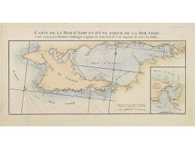 TARDIEU, P. F. -  Carte de la mer d'Azof et d'une partie de la Mer Noire.