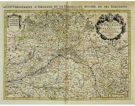 JAILLOT, H. / MORTIER, P. -  Le gouvernement d'Orléans, et la généralité divisée en ses élections. . .