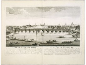 CHÉREAU, J. / AVELINE, P. A. -  A view of Westminster bridge.  Vue du pont Westminster.