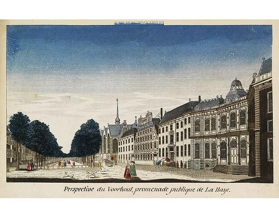 MONDHARE, L. J. -  Perspective du Voorhout, promenade publique de La Haye.